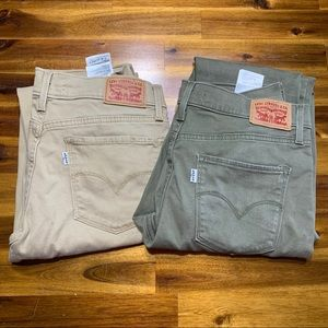 2 pairs of Levi's skinny. Both size 29. Like new!